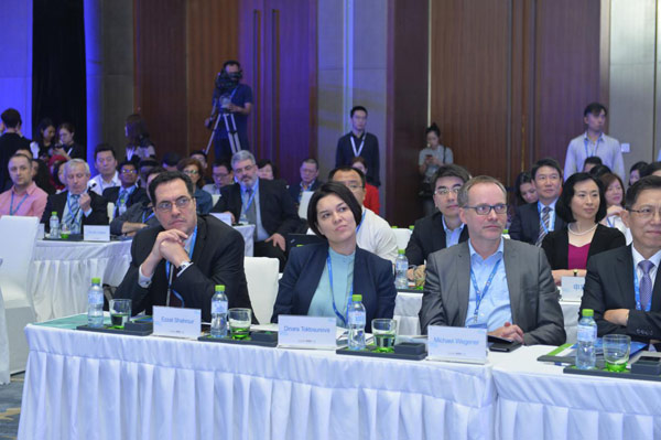 Delegates attend the China Global Television Network (CGTN) Global Media Summit and the Global Video Media Forum 2017 on Tuesday in Sanya City, south China