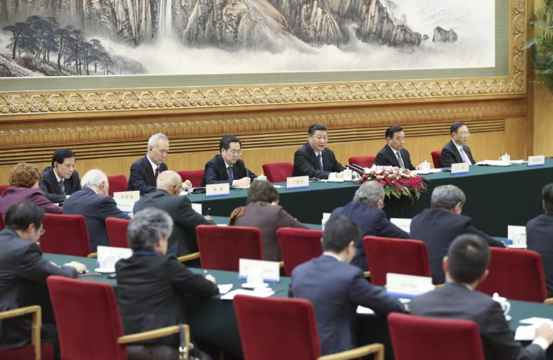 """11月30日,国家主席习近平在北京人民大会堂会见来华出席""""2017从都国际论坛""""的世界领袖联盟成员。"""