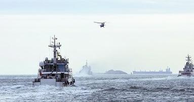 福建海区冬季海空联合巡航活动,福建海事局、厦门海事局、东海救助局、东二飞等单位参与巡航