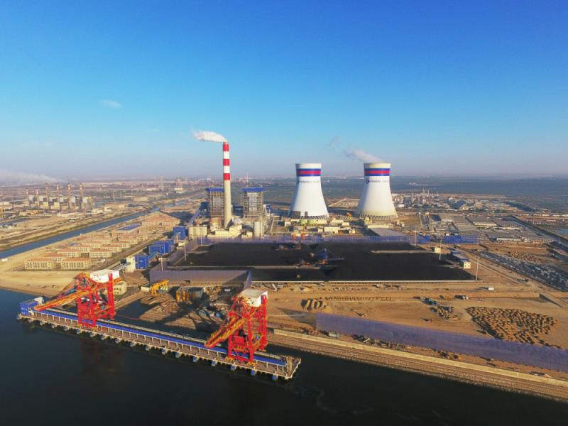 卡西姆港燃煤电站全景(中国白菜送彩金网站大全提供)