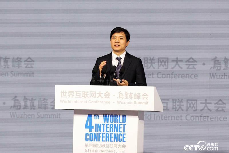百度公司董事长、CEO李彦宏(央视网记者李文亮摄)