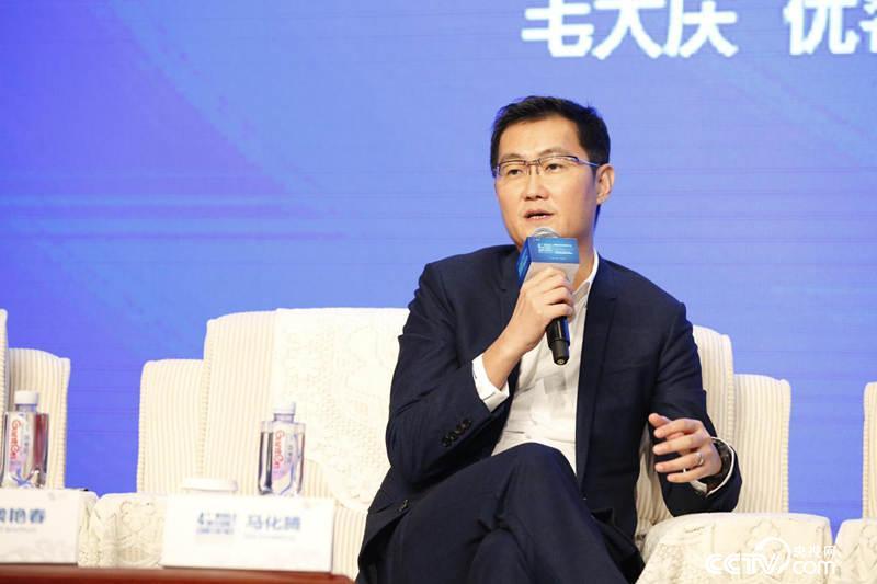 腾讯董事会主席兼首席执行官马化腾(央视网记者李文亮摄)
