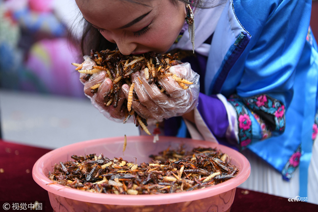 Eating insects is an ancient custom in various Chinese cuisines
