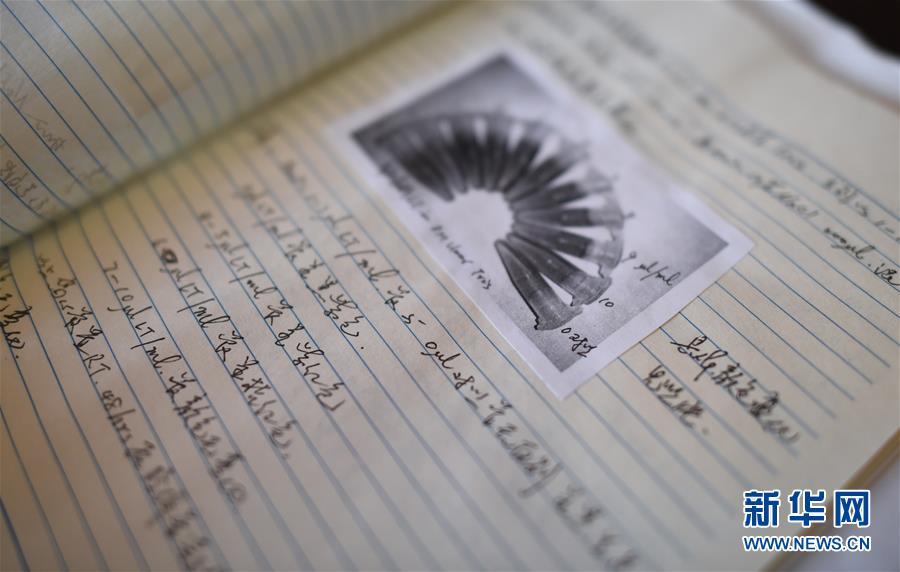 这是王一成生前手写的研究笔记(12月11日摄)。