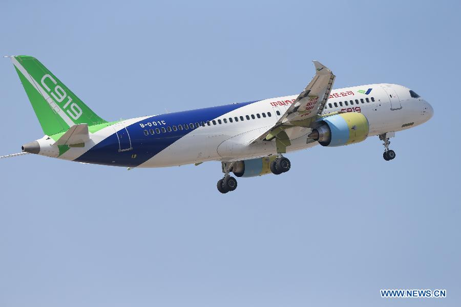 China-made C919 passenger jet takes first trial flight