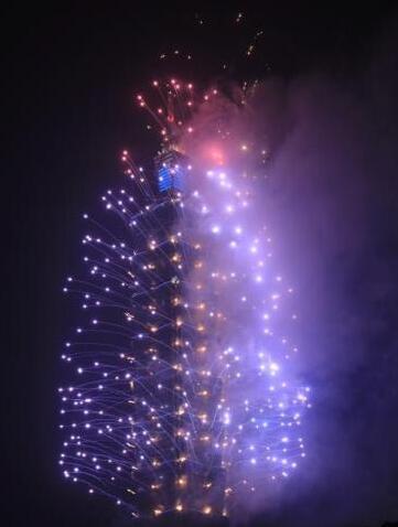 资料图:台北101大楼烟火秀。