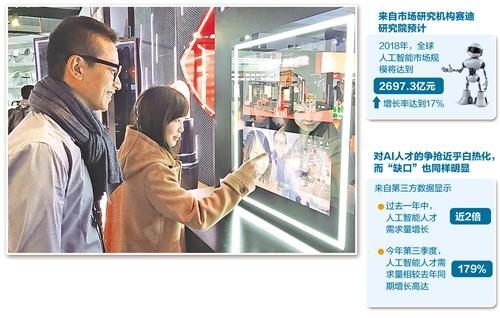 基于人脸识别的人工智能技术,让消费者能体验彩妆效果的虚拟试妆机应运而生。 陈 静摄