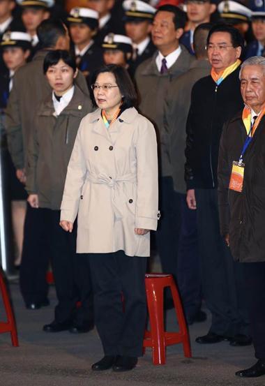 台当局领导人蔡英文参加元旦典礼。