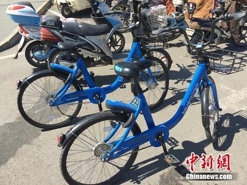 ↑资料图:小蓝单车。