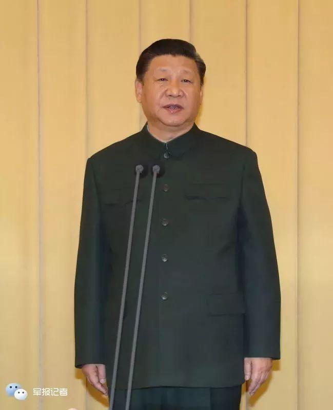 1月10日上午,中央军委向武警部队授旗仪式在北京八一大楼举行。中共中央总书记、国家主席、中央军委主席习近平向武警部队授旗并致训词。这是习近平致训词。记者冯凯旋摄