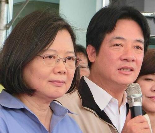 蔡英文(左)与赖清德(右)。(图片来源:台湾《中时电子报》)
