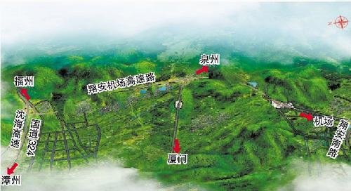 翔安机场高速公路北段效果图。(厦门路桥建设集团提供)