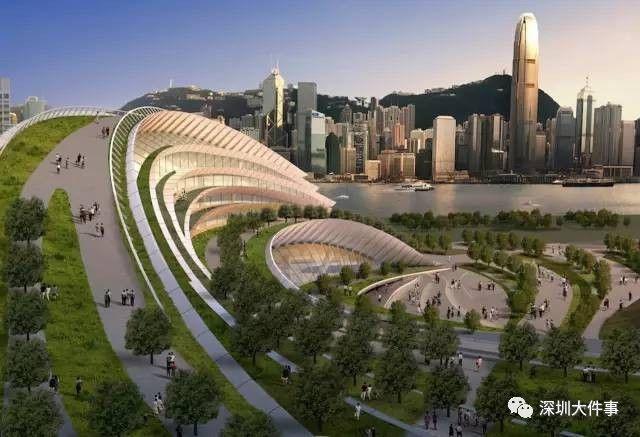 香港西九龙总站占地135亩,预计建成后将会长这样。