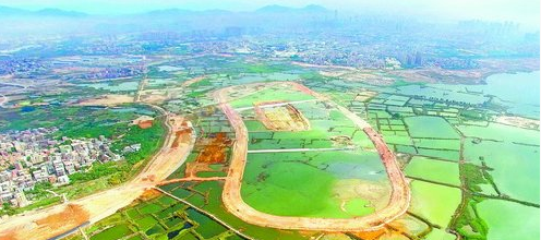 生态修复(一期)工程集美岛2017年11月轮廓成形。