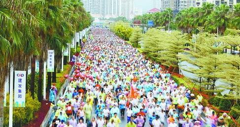 去年11月25日举行的海沧半程马拉松。