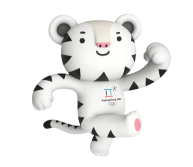 """平昌冬奥会吉祥物为叫做""""soohorang""""的白老虎和""""bandabi""""的"""
