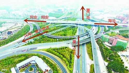 海田立交建成通车,实现了海翔大道和田集连接线互通。