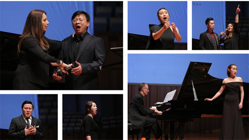 2017年,公开大师课以青年歌唱演员演绎歌剧唱段,导师讲解示范的方式进行 甘源/摄