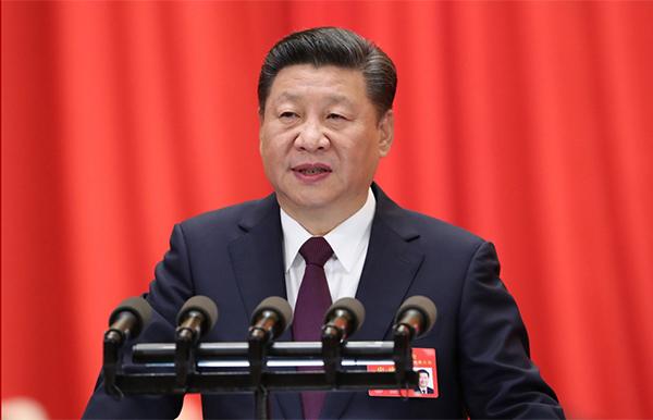2017年10月18日,习近平在中国共产党第十九次全国代表大会上作报告。