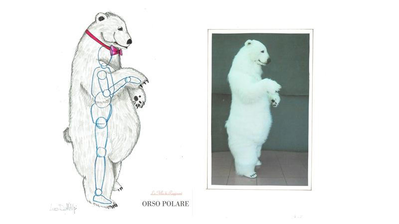 专门设计的白熊造型
