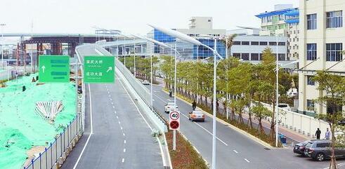 新建的这条枋钟路左转成功大道匝道桥限制时速为40公里。