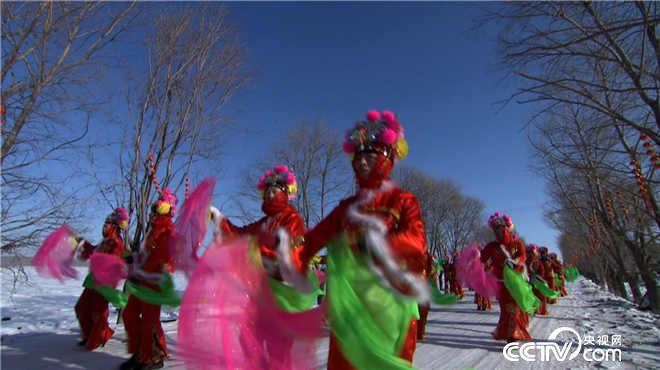 黑龙江富锦:冰天雪地扭秧歌