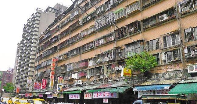 台北老旧公寓示意图