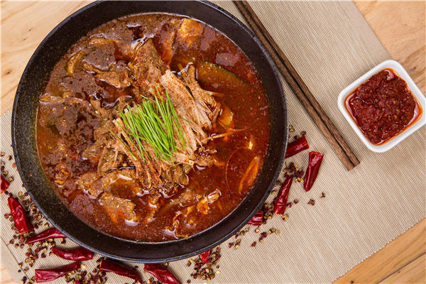 Poached beef with hot chili. [Photo provided to China Daily]