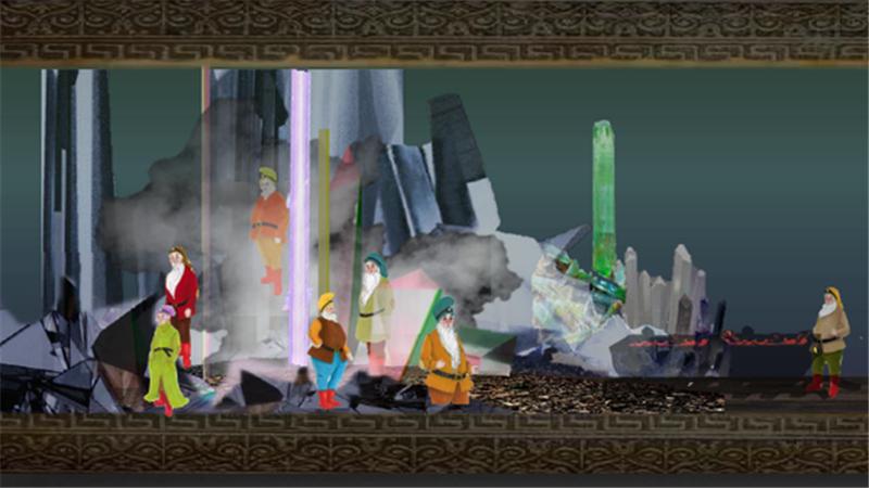 编剧蔡佳涵赋予魔镜、七个小矮人等性格各异的角色以极具张力的舞台魅力