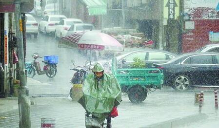 昨日中午我市突然下雨