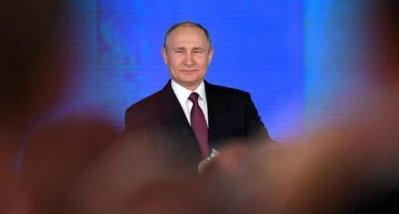 资料图:当地时间3月1日,俄罗斯总统普京在莫斯科发表2018年度国情咨文。