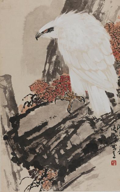 《白鹰》 孙其峰 74.5×47.5cm