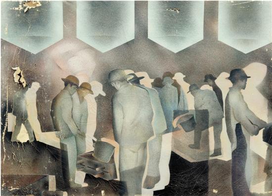 黄永砯 车间 布面油画 125×170cm 1982年