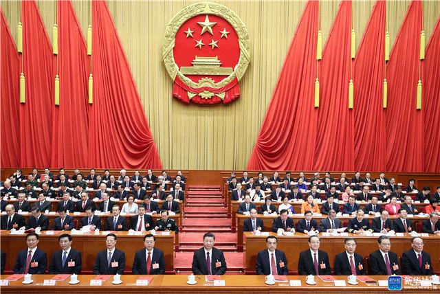3月20日,第十三届全国人民代表大会第一次会议在北京人民大会堂闭幕。习近平等党和国家领导人在主席台就座。