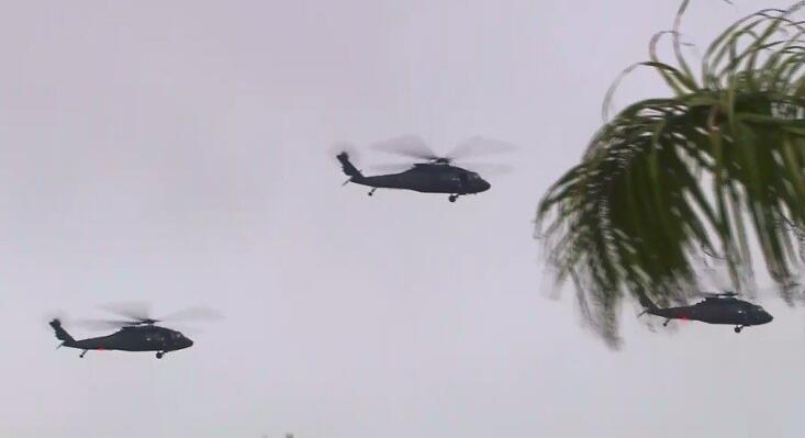 台北清晨直升机轰鸣似军事演习,实为台军为歌唱比赛造势。