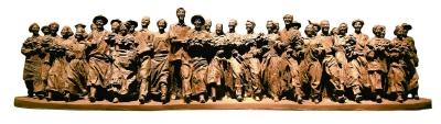 团结·进步(雕塑) 李继飞