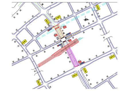 图1  施工路段交通组织示意图