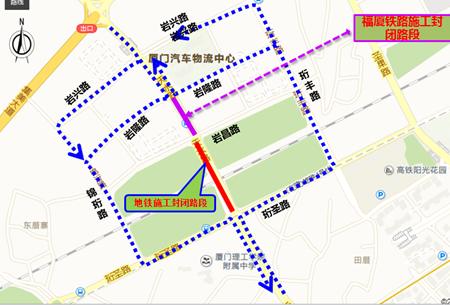 图2  外围交通绕行示意图