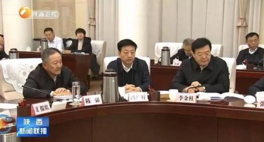 冯新柱在落马的前一天还出现在陕西新闻联播的报道画面里