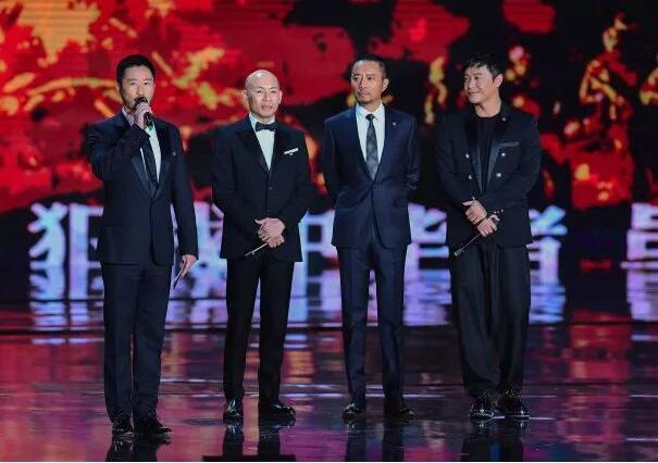 左起:吴京、林超贤、张涵予、陈思诚