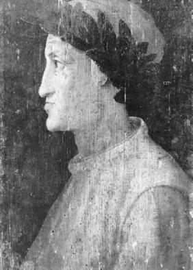 但丁肖像(木板油画) 托斯卡纳大区的工作室 圣马太国家博物馆收藏