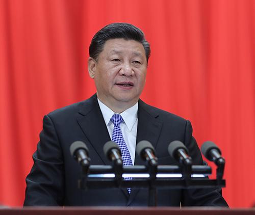5月4日,纪念马克思诞辰200周年大会在北京人民大会堂隆重举行。中共中央总书记、国家主席、中央军委主席习近平在大会上发表重要讲话。新华社记者 鞠鹏 摄