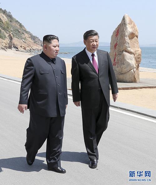 5月7日至8日,中共中央总书记、国家主席习近平同朝鲜劳动党委员长、国务委员会委员长金正恩在大连举行会晤。 新华社记者 鞠鹏 摄