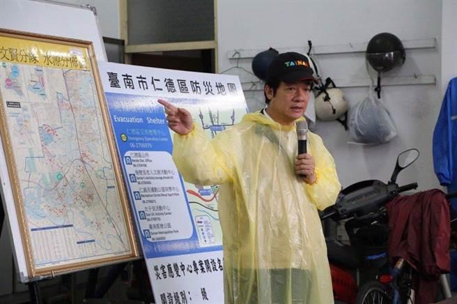 赖清德在担任台南市长期间以治水绩效自豪