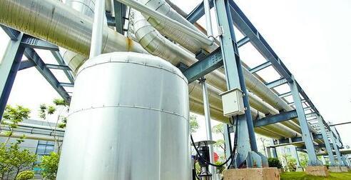 三安光电收集厂区的空调冷凝水进行利用。