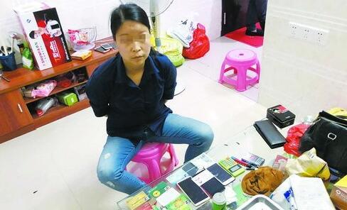 嫌疑人吴某丽被民警抓获。(警方供图)