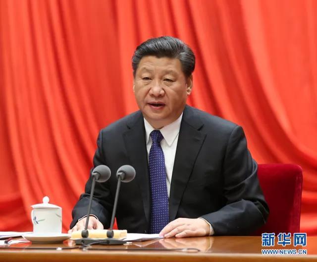 2016年1月12日,中共中央总书记、国家主席、中央军委主席习近平在中国共产党第十八届中央纪律检查委员会第六次全体会议上发表重要讲话。新华社记者马占成摄