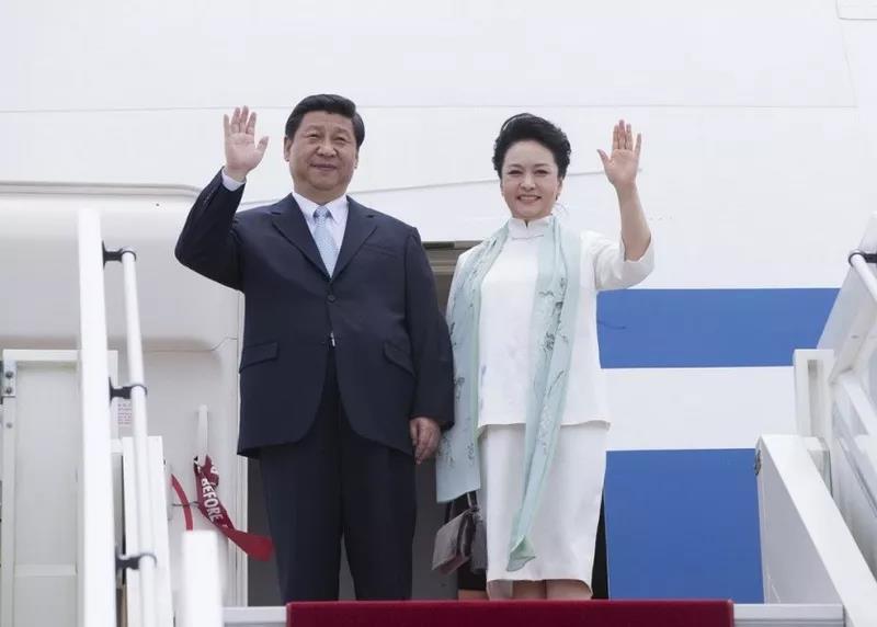 △2013年3月29日,国家主席习近平和夫人彭丽媛对刚果共和国进行国事访问。