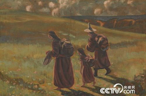 向着光明前进的臧明(甘南藏族自治州)-1945年-80X118cm