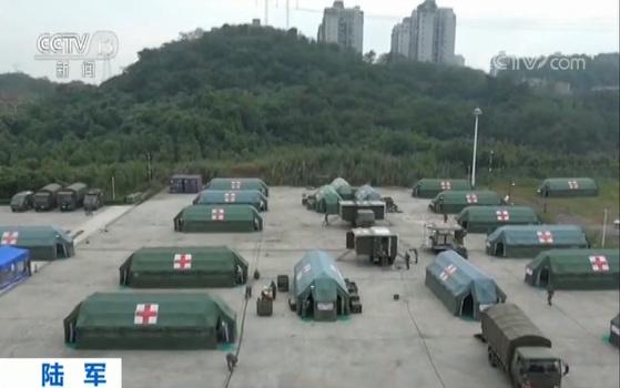 模拟野战实战 检验应急救护能力